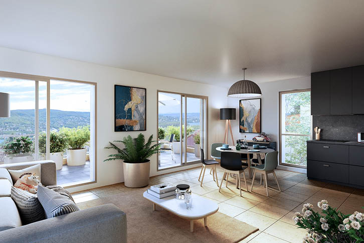 Programme immobilier Opale vue intérieure